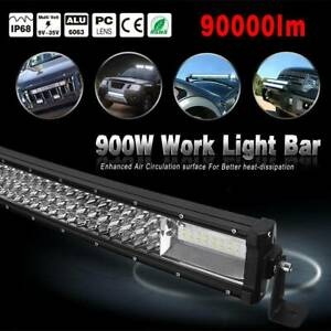 Curved 52 Inch Led Light Bar 900w 8d Combo Offroad Suv Tractor Atv Driving 52