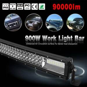 Curved 52 Inch Led Light Bar 900w 9d Combo Offroad Suv Tractor Atv Driving 52