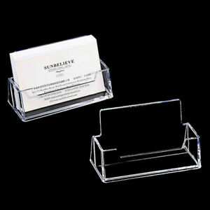 Acrylic Office Business Card Holder Desktop Dispensers Display Stand Desk Shelf