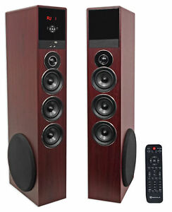 Tower Speaker Home Theater System wSub For LG UK6090PUA Television TV-Wood