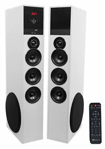 Tower Speaker Home Theater System wSub For LG SK8000 Television TV-White