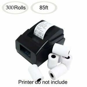 300 Rolls 2 1 4 X 85 Thermal Receipt Paper Credit Card Cash Register Tape Case
