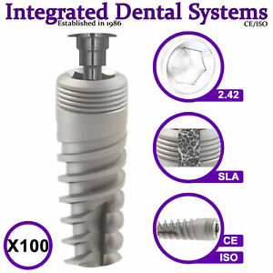 X100 Spiral Dental Implant Sterile Ready To Use Iso ce Internal Hexagon System