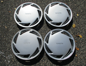 Genuine 1986 To 1992 Toyota Corolla 13 Inch Hubcaps Wheel Covers