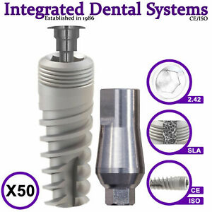 X50 Spiral Dental Implant Standard Abutment Iso ce Internal Hexagon System