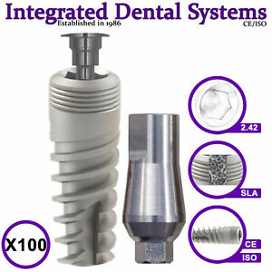 X100 Spiral Dental Implant Standard Abutment Iso ce Internal Hexagon System