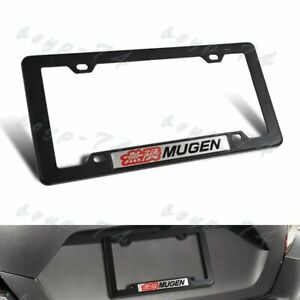 Abs License Plate Tag Frame For Honda Civic Si 1pc Mugen With Car Trunk Emblem