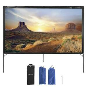 80 4k Projector Screen Portable Foldable Outdoor Movie Theater Projection 16 9