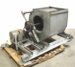 Magnetek 5 hp E219 3 ph Squirrel Cage Blower Exhaust Fan Opening 22 x22 17 dia