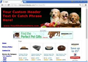 Earn Hands Free Income Pet Store Website For Sale No Experience Needed
