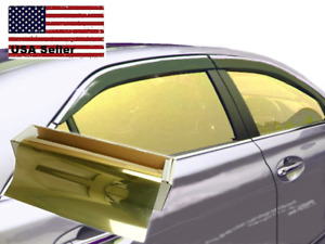 One Way Mirror Film Reflective Uv Window Color Tint Gold 20 X 10