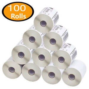 100 Rolls 4x6 Direct Thermal Shipping Labels Zebra Eltron 2844 Zp450 250 roll