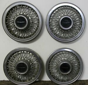 Oem 14 Wire Type Hub Caps Wheel Covers E5sz1130d 1985 88 Ford Thunderbird w96