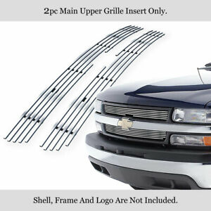 Fits 1999 2002 Chevy Silverado 1500 2500 3500 Stainless Chrome Billet Grille