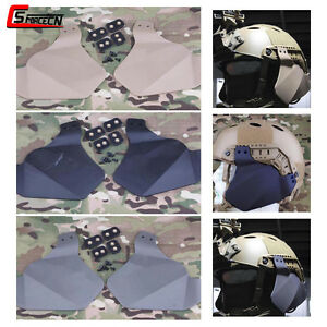 Tactical Airsoft Rubber Ear Side Cover Protector for Emerson FAST Helmet Rails