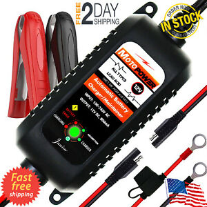 Automatic Battery Charger Maintainer Tender 12v 800ma Motorcycle Atv Boat Car