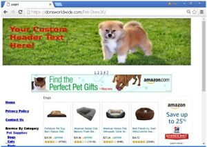 Affiliate Pet Store Website For Sale Free Install Free Domain Name And Much More