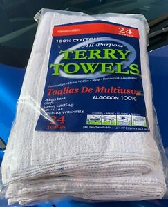 48 Cotton Barmop Terry Towels 14x17 Free Shipping