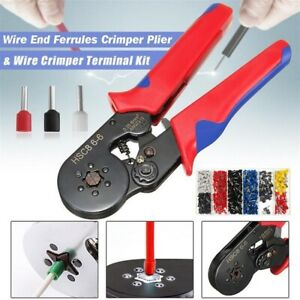 Automatic Cable Wire End Ferrule Crimper Plier Terminal Crimping Tool Kit