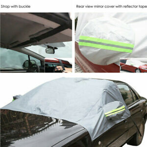1pc Small Suv Car Front Windshield Snow Ice Protector Cover Sun Shade Waterproof