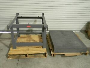 Black Granite Inspection Surface Plate W Support Stand 48 X 36 X 6 Grade A