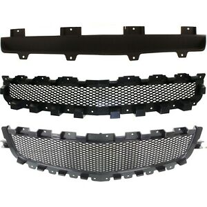 New Set Of 3 Grille Grill For Chevy Malibu 08 12 Gm1200600 Gm1200601 Gm1223104