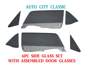 Grey Glass 1964 1965 1966 Mustang Convertible Vents Doors In Frame Quarters