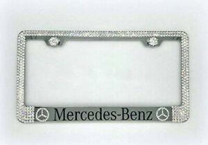 Bling Mercedes Benz License Plate Frame Made With Swarovski Crystals Jewelry