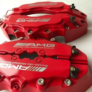 Amg Red Brake Caliper Covers Plastic For Mercedes Benz 11 F 9 R Straight Logo