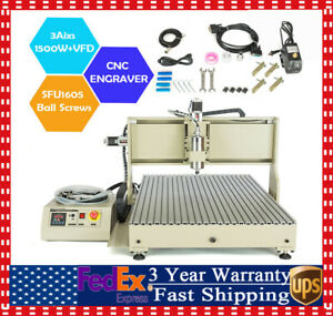 3 Axis 6090 Cnc Router Engraving Usb Machine 3d Cutter Mill Vfd Carving Kit
