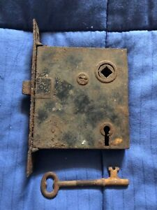 Vintage Door Lock Skeleton Key Deadbolt Steampunk