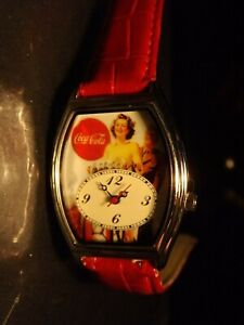 Womens Vintage Coca Cola Watch (Coke Watch & Military Man)-(Retro)-Rare-VTHF-New