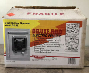 Vintage 1989 Paramak Deluxe Field Ss Electric Fencer 6 Volt Battery Operated