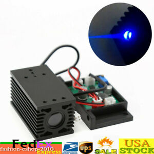 Focusable 2w Blue Laser Modules Ttl Driver Board Engrave Cutter 450nm 2000mw Top