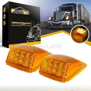 2x17 Led Amber Roof Top Cab Marker Clearance Lights For Peterbilt Kenworth Truck