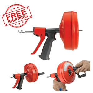 Ridgid Hand Power Drain Auger Plumbing Snake Cable Unclog Sink Tub Shower Drill