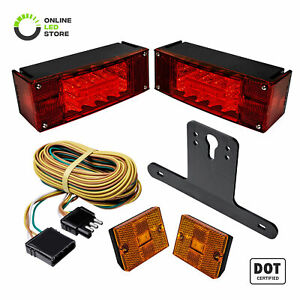 Led Trailer Light Kit Ip67 Waterproof Dot Approved Wiring Harness Reflector