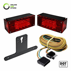Led Trailer Tail Light Kit Ip67 Waterproof Dot Approved Wiring Harness Reflector