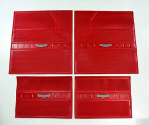 1958 Chevrolet Floor Mats Rubber Red 4 Piece Set And 58 Chevy Parts Catalog