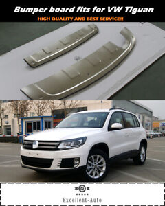 Stainless Skid Plate Bumper Board Guard Fits For Volkswagen Vw Tiguan 2017 19