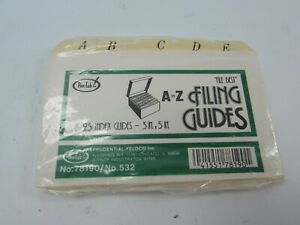 Pen Tab Index Card Dividers Filing Guides A To Z 78190 532 3 X 5 31847