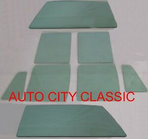 Glass 1959 Ford Country Sedan Squire Ranch 4dr Wagon Vent Door Quarter Green