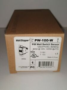 The Watt Stopper Pir Wall Switch Sensor Pw 100 w 120 277v 50 60hz 800 1200w