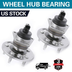 Set 2 Rear Wheel Bearing Hub For Chevy Cavalie Beretta Pontiac Grand Am Sunfire