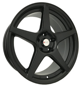 4pcs Xxr 18inch 8j 5x114 3 Alloy Wheels Cheap Car Rims Matt Black Gunmetal 535 7
