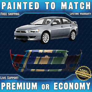 New Painted To Match Front Bumper Replacement For 2008 2015 Mitsubishi Lancer