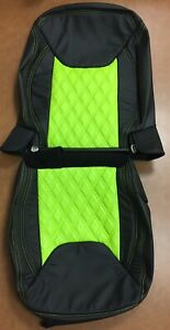 Jeep Wrangler Jk Custom Katzkin Black Hyper Green Leather Seat Covers Diamond