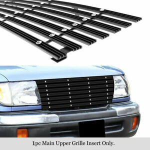 Fits 1998 2000 Toyota Tacoma 97 2wd Upper Black Wide Rivet Billet Grille Insert