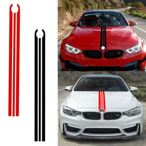 Front Hood Racing Strip Car Body Vinyl Decal Sticker For Bmw 1 2 3 5 6 7 Series