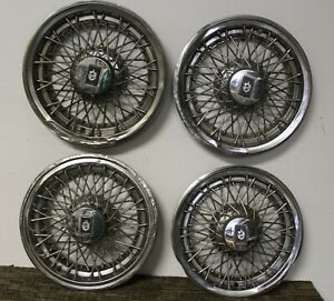 Oem 15 Wire Type Hub Caps Wheel Covers 22511787 1981 85 Oldsmobile 88 98 w158